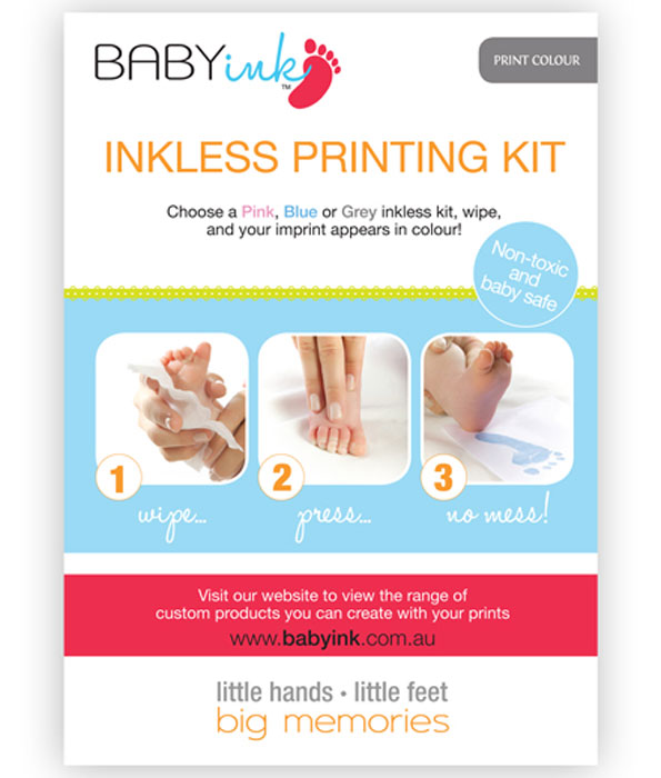 Baby Ink-less Print Kit Grey