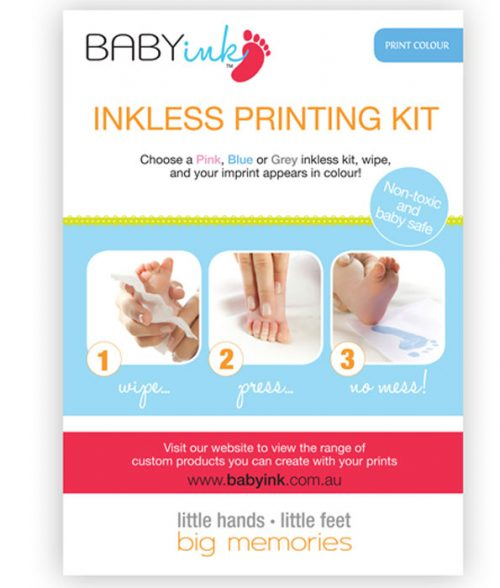 Baby Ink-Less Print Kit Blue