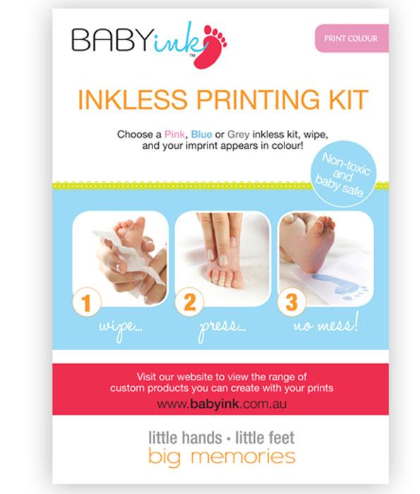 Baby Ink-Less Print Kit Pink