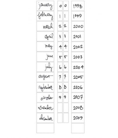 Heidi Swapp Roller Stamp Date