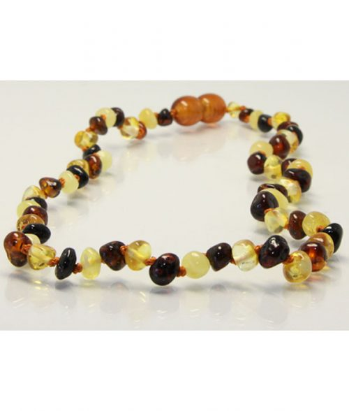 Amberbebe Baltic Amber Necklace Multi Coloured
