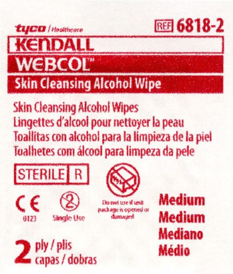 WEBCOBL Skin Cleansing Alcohol Wipe