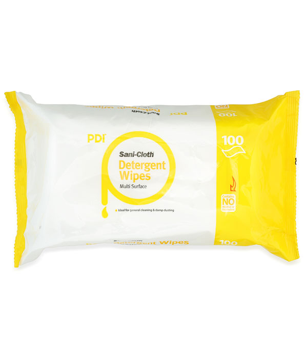 Sani-Cloth Detergent Wipes 100 Count Flat Pack