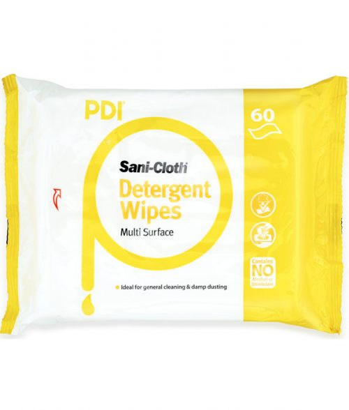 Sani-Cloth Detergent Wipes 60 Count Flat Pack