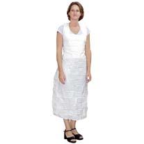 White Plastic Apron Non-Sterile
