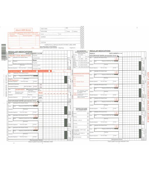 Regular Medication Chart No Carbon