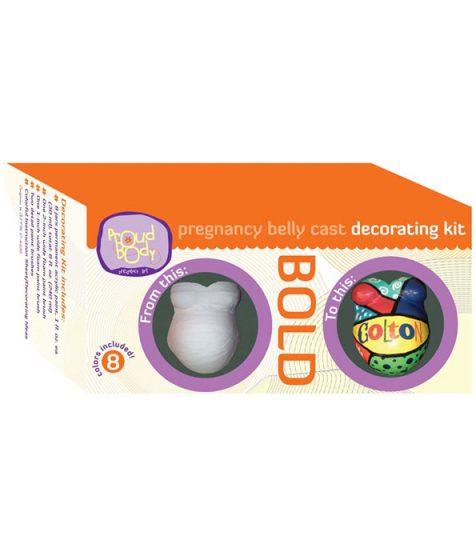 Pregnancy Belly Cast Decorating Kit Bold
