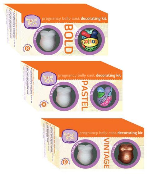 Pregnancy Belly Cast Decorating Kit Bundle Pack