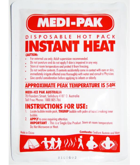 Instant Heat Disposable