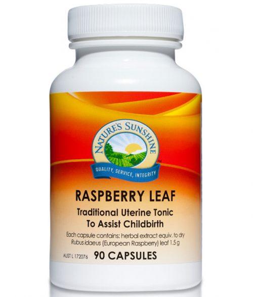 Raspberry leaf capsules