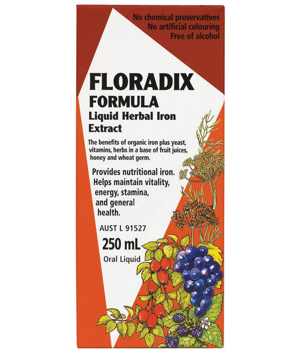 Floradix Formula Liquid Herbal Iron Extract 500ml