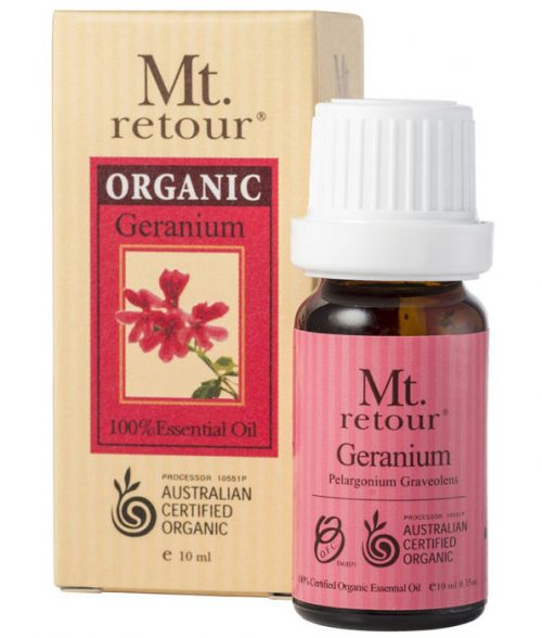 Mt Retour Organic Geranium 100% Essential Oil 10ml
