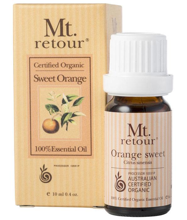 Mt Retour Organic Sweet Orange 100% Essential Oil 10ml