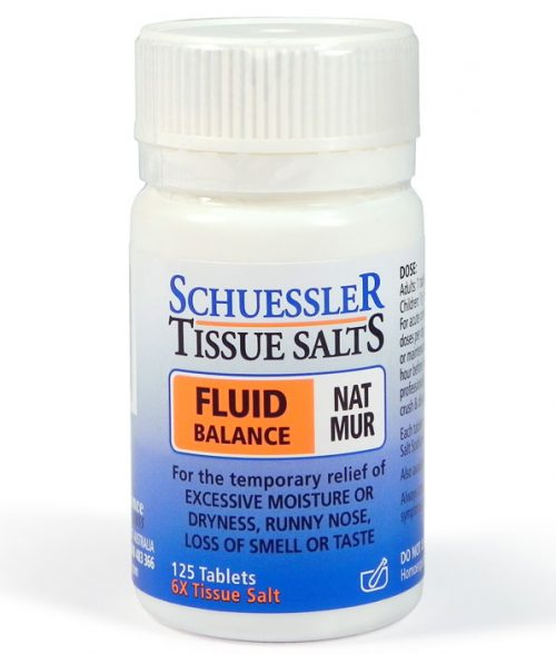 Schuessler Tissue Salts Nat Mur Tablets 125