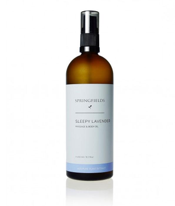 Springfields Sleepy Lavender Massage and Body Oil 200ml