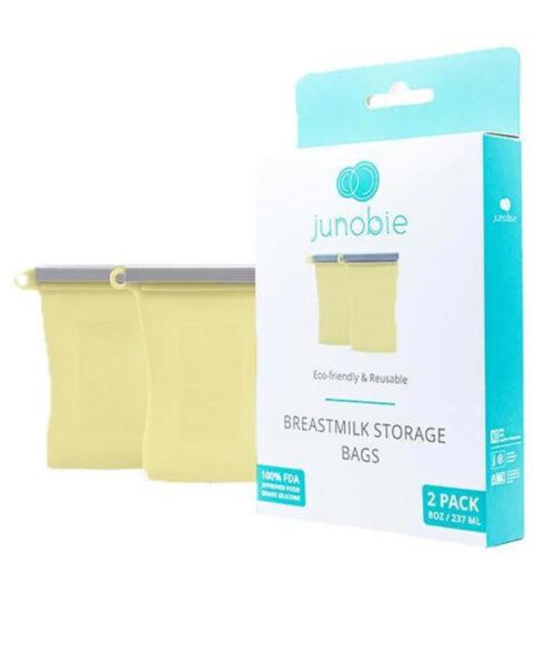 Junobie Reusable Silicone Breastmilk Storage Bags 2pk